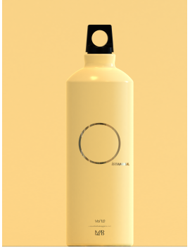 Aluminum Water Bottle Yellow 0,5ml