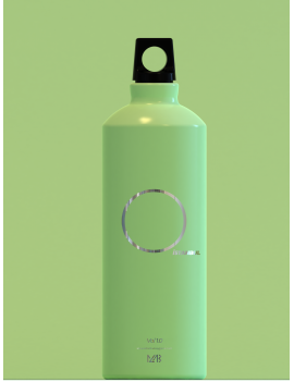 Aluminum Water Bottle Green 0,75ml
