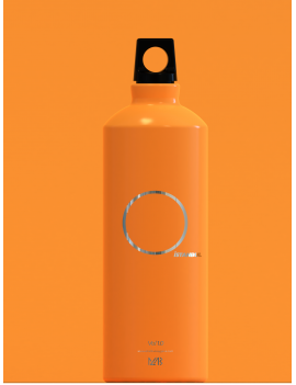 Aluminum Water Bottle Orange 0,75ml